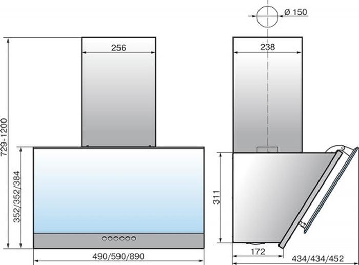Встраиваемая вытяжка Elikor Рубин S4 60П-700-Э4Д, черный Elikor