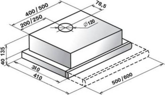 Встраиваемая вытяжка Elikor Интегра 60П-400-В2Л, белый Elikor