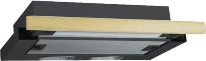 Встраиваемая вытяжка Elikor Интегра 50П-400-В2Л, черн/дуб неокр.  Elikor