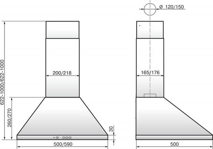 Встраиваемая вытяжка Elikor Вента 60Н-650-К3Д, серебристый Elikor