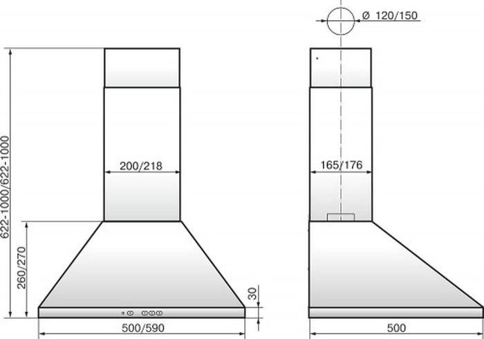 Встраиваемая вытяжка Elikor Вента 50Н-430-К3Д, серебристый Elikor