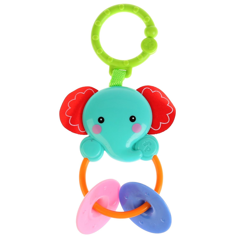 Погремушка со съемным кольцом ТМ Умка Голубой слоник, 260016260016Игрушка со съёмным кольцом Голубой слоник - это новинка ТМ УМка, разработанная специально для малышей. Она сделана из прочного пластика в ярких цветах, в окрашивающий состав добавлены пищевые красители. Благодаря этому игрушка безопасна для ребёнка всамом раннем возрасте. Сверху находится кольцо, поэтому её можно прикрепить к коляске или кроватке. Ушки выполнены из мягкого материала. Снизу есть 2 подвижных элемента-прорезывателя, с помощью которых можно чесать дёсны, когда появляются зубки. Развиваетслух, внимательность, мелкую моторику и зрение. Одобрено Институтом педиатрии России и Центром здоровья детей. Рекомендуется детям от 0 месяцев.