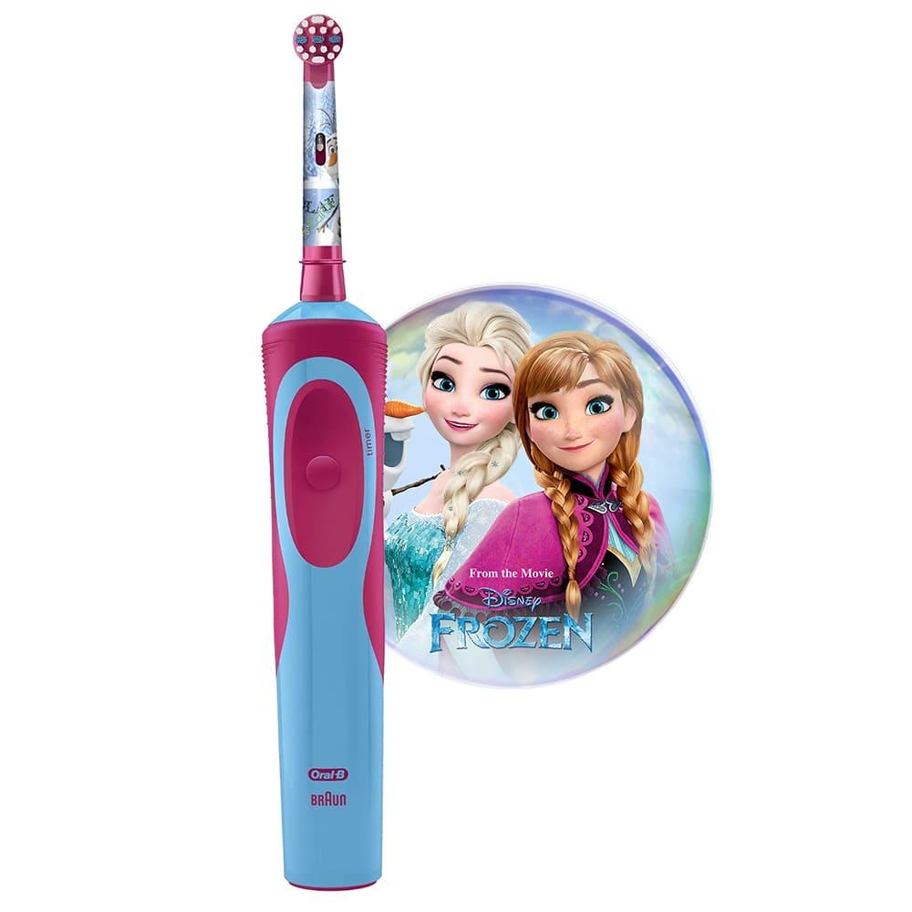 Электрическая зубная щетка Braun Oral-B Stages Power Frozen Kids D12.513, 80300508, голубой, розовый
