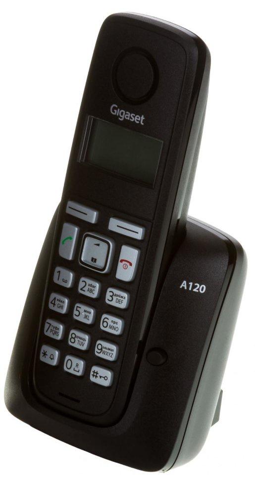 Радиотелефон Gigaset Gigaset A120 RUS Black, S30852-H2401-S301, черный радиотелефон siemens gigaset a120 duo черный l36852 h2401 s301