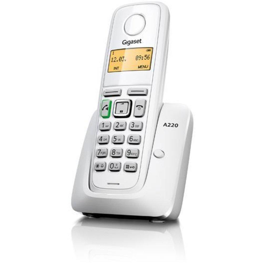 Радиотелефон Gigaset A220 RUS White, S30852-H2411-S302, белый