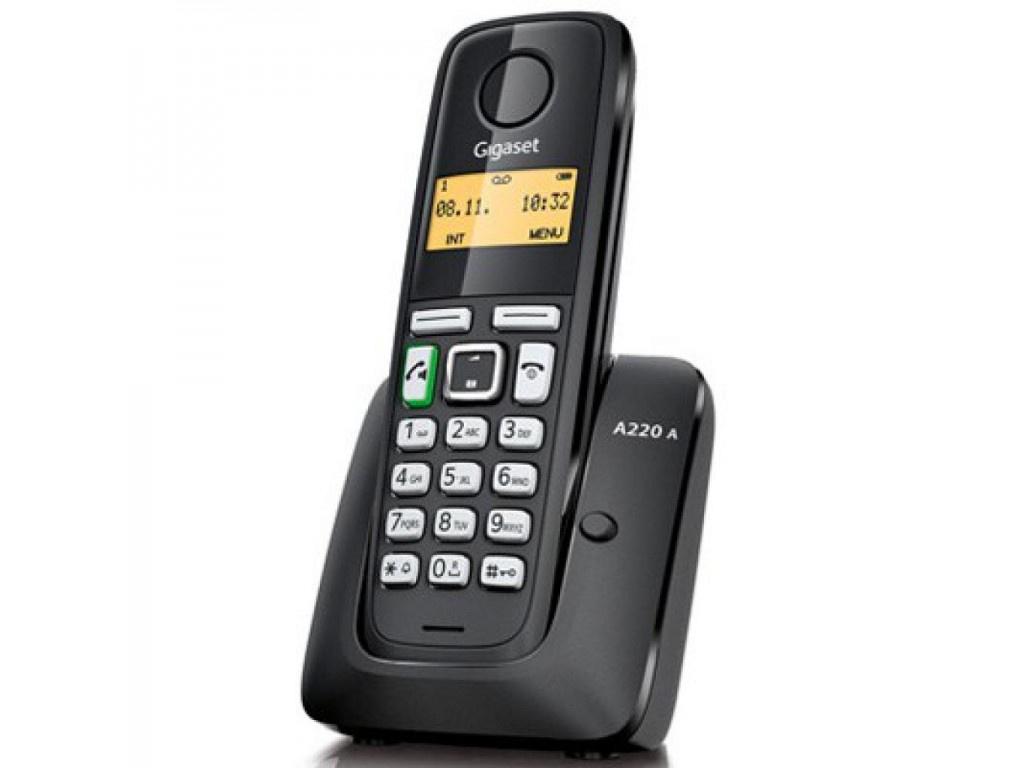 Радиотелефон с автоответчиком Gigaset Gigaset A220 A RUS Black, S30852-H2431-S301, черный