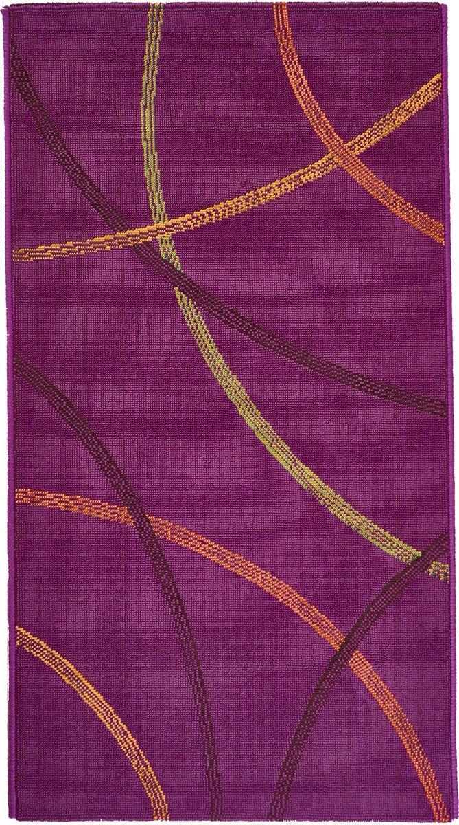 Коврик прикроватный Oriental Weavers Дaзл, цвет: фиолетовый, 67 х 120 см. 730 M ковер oriental weavers дaзл цвет зеленый 100 х 150 см 663 к