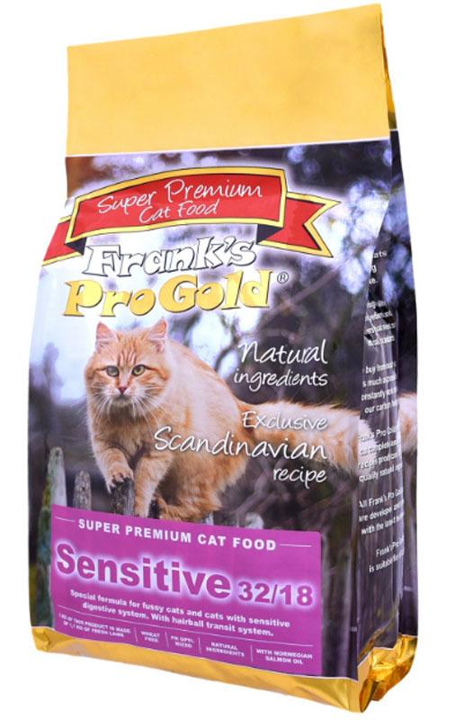 """Корм сухой """"Frank's ProGold"""" для чувствительных кошек, с ягненком по-голландски, 7,5 кг"""