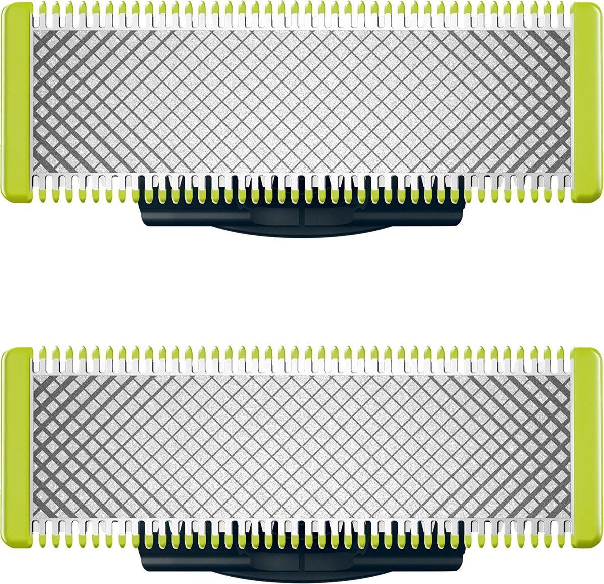 Сменные лезвия Philips QP220/50 для OneBlade и OneBlade Pro, 2 шт аксессуар сменное лезвие philips qp210 oneblade oneblade pro 1шт