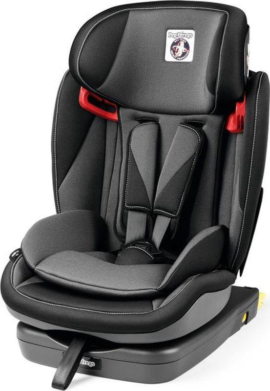 Автокресло Peg-Perego Viaggio 1-2-3 Via Crystal Black от 9 до 36 кг, IMVA000035DP53DX13, черный, темно-серый автокресло peg perego viaggio 1 2 3 via urban denim