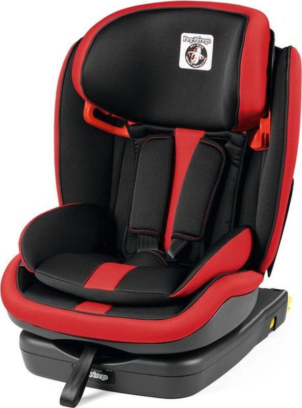 Автокресло Peg-Perego Viaggio 1-2-3 Via Monza от 9 до 36 кг, IMVA000035DX79DX13, черный, красный автокресло peg perego viaggio 1 2 3 via urban denim