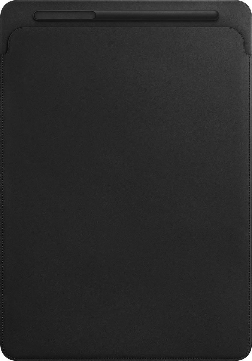 Чехол для планшета Apple Leather Sleeve для iPad Pro 12,9, MQ0U2ZM/A, black аксессуар чехол twelve south pencilsnap для apple pencil brown 12 1747