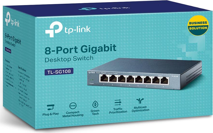 Коммутатор TP-Link TL-SG108, 1730502126, dark blue