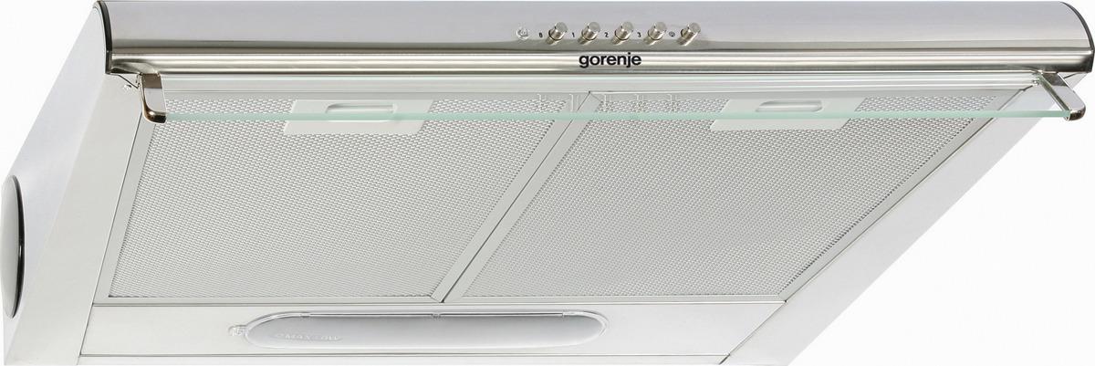 Встраиваемая вытяжка Gorenje DU6446E, серебристый вытяжка встраиваемая gorenje bhp623e12x