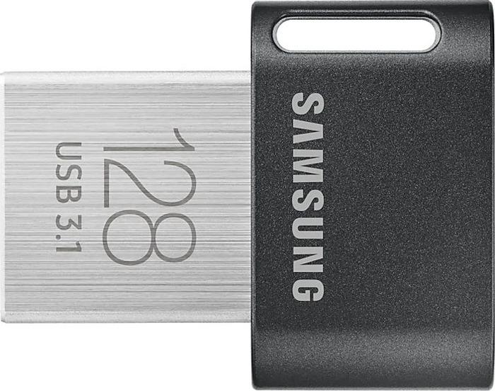 USB Флеш-накопитель Samsung Fit Plus MUF-128AB/APC 128GB, серебристый usb флешка samsung bar plus 256gb silver muf 256be3 apc usb 3 1
