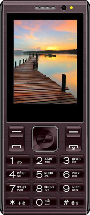 Мобильный телефон Vertex D536, коричневый мобильный телефон vertex d536 brown