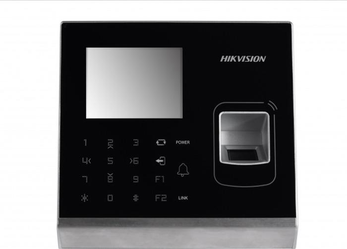 Терминал доступа Hikvision DS-K1T201MF, черный, стальной терминал доступа hikvision ds k1t801m стальной