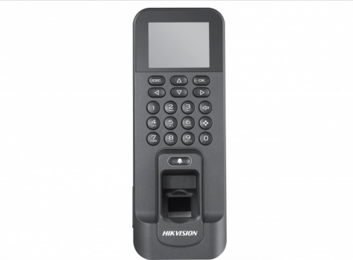 Терминал доступа Hikvision DS-K1T804F, черный терминал доступа hikvision ds k1t801m стальной