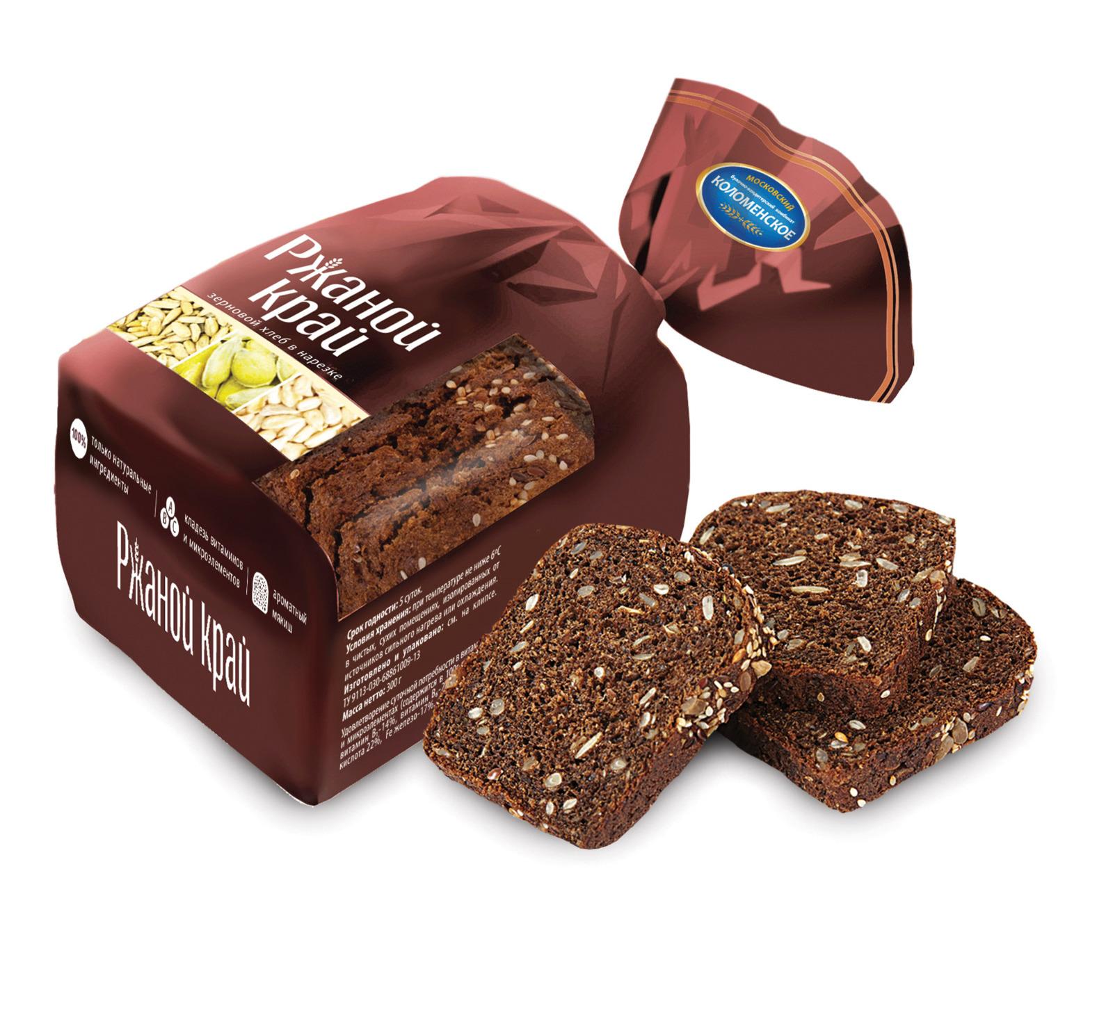 Хлеб Коломенское Ржаной край зерновой, 300 г булка коломенское булочки сдобные с кардамоном 200 г