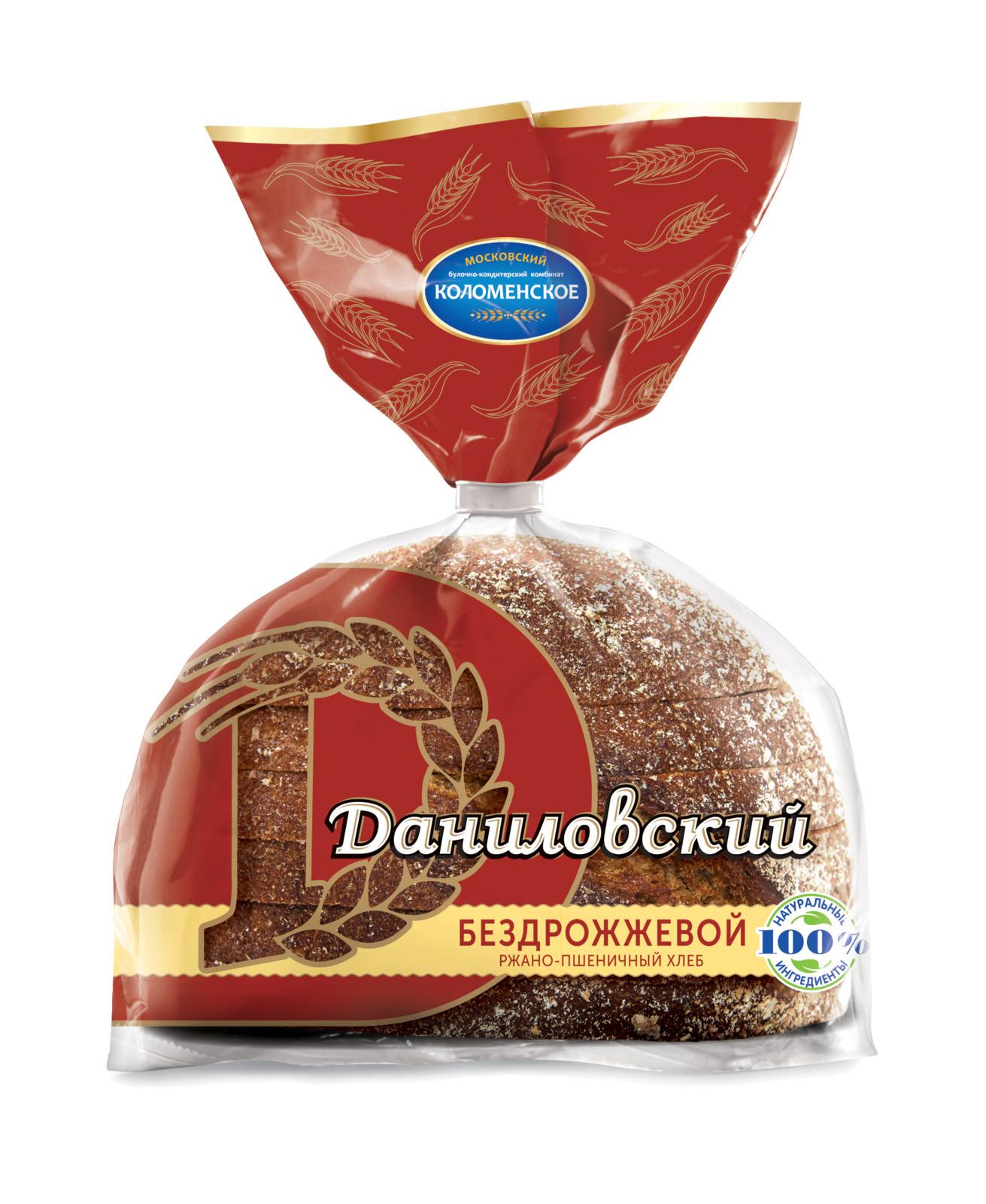 Хлеб Коломенское Даниловский бездрожжевой, 300 г булка коломенское булочки сдобные с кардамоном 200 г