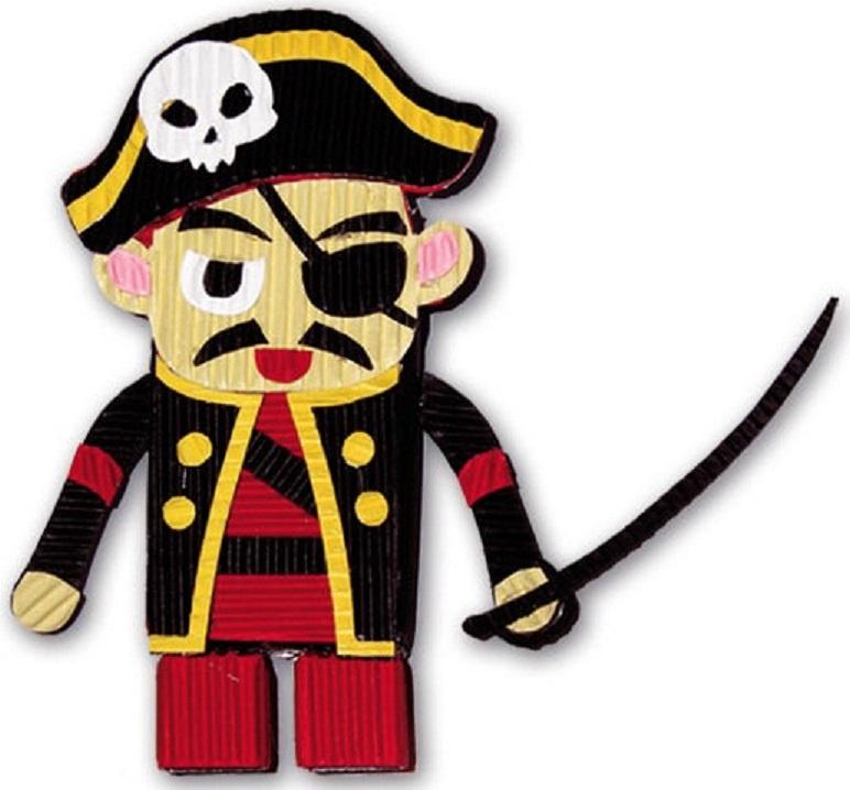 """Набор для детского творчества Феникс+ """"Пират"""" 23886, из цветного картона"""