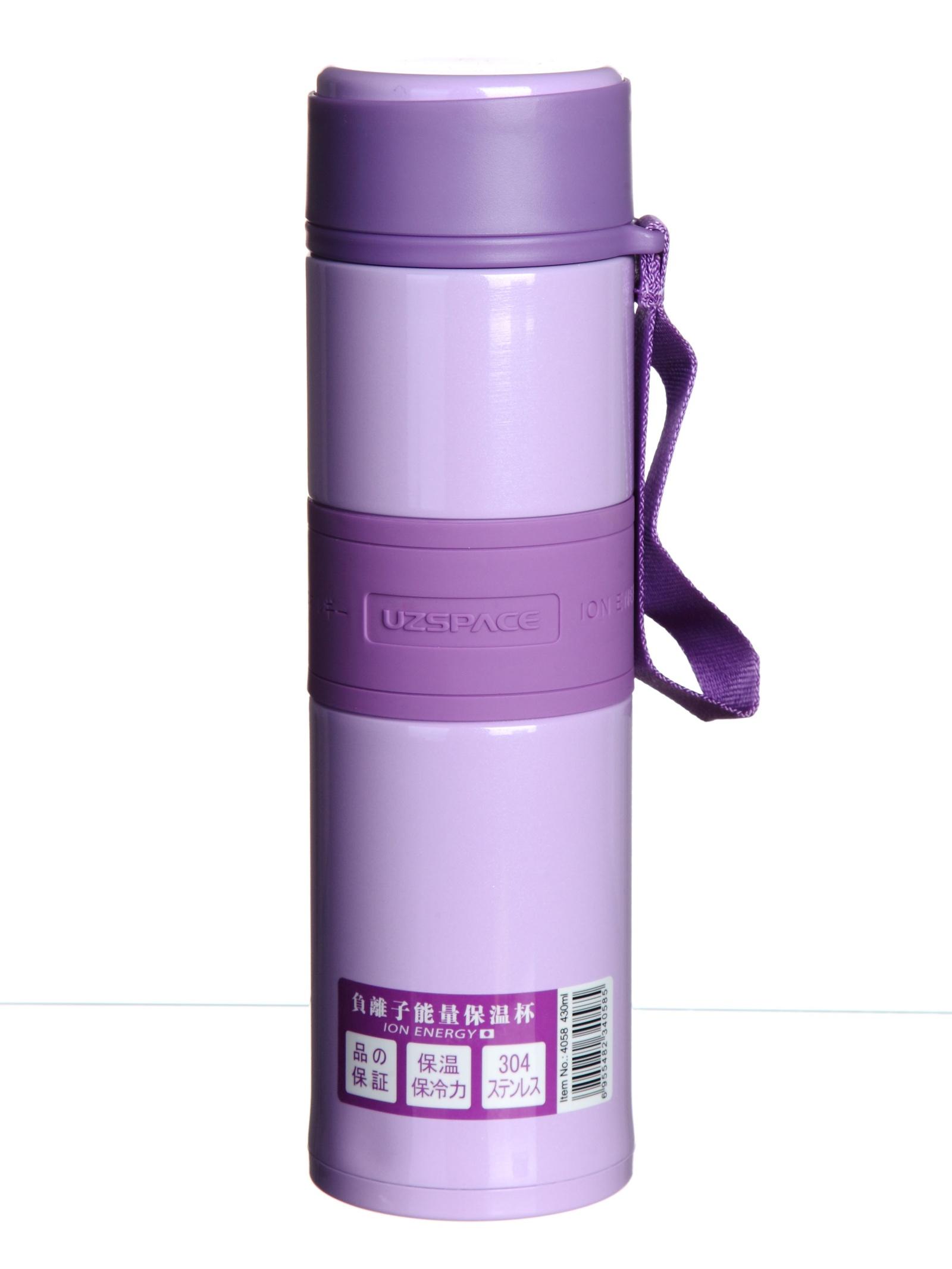Термос Uzspace, 4058, фиолетовый, 430 мл
