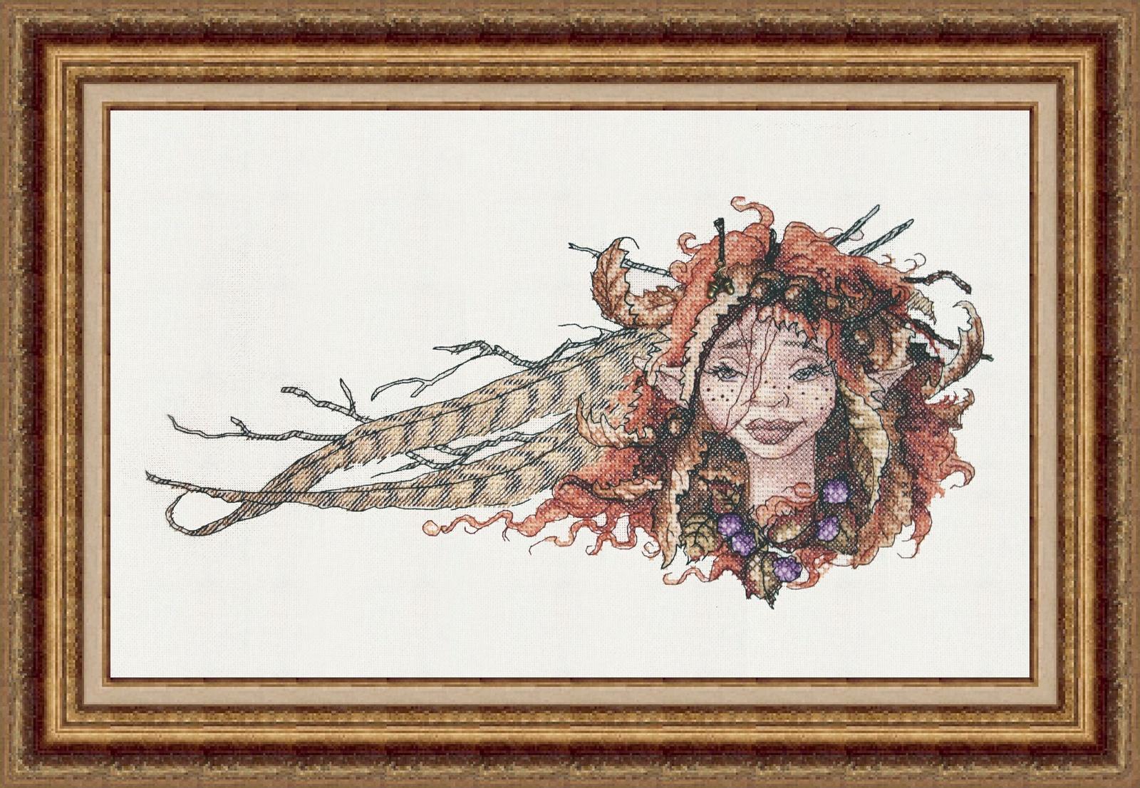 """Набор для вышивания крестиком Неокрафт """"Портрет осени"""", вл-19, 16х33 см"""