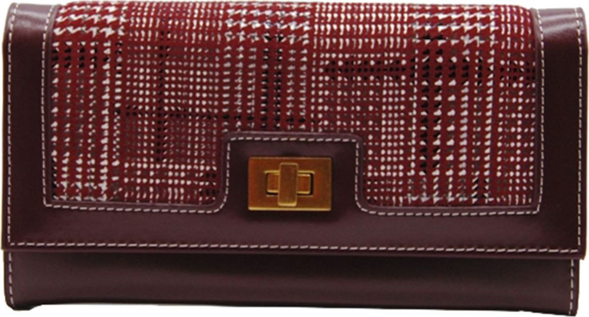Кошелек женский Cheribags, 04К-155-33, бордовый pink dandelion design кожа pu откидной крышки кошелек для карты держатель для samsung j5prime