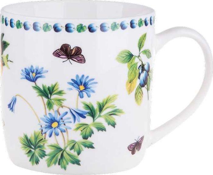 Кружка столовая Miolla Цветы, XY055-Y13054, белый, 360 мл кружка винтаж 360 мл miolla кружка винтаж 360 мл