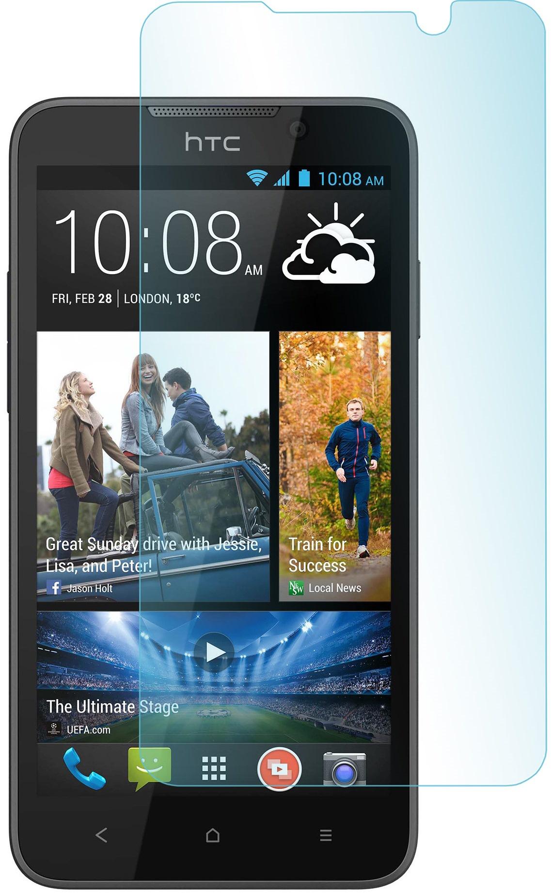 Защитное стекло skinBOX для HTC Desire 516, 2000000063898, глянцевое все цены