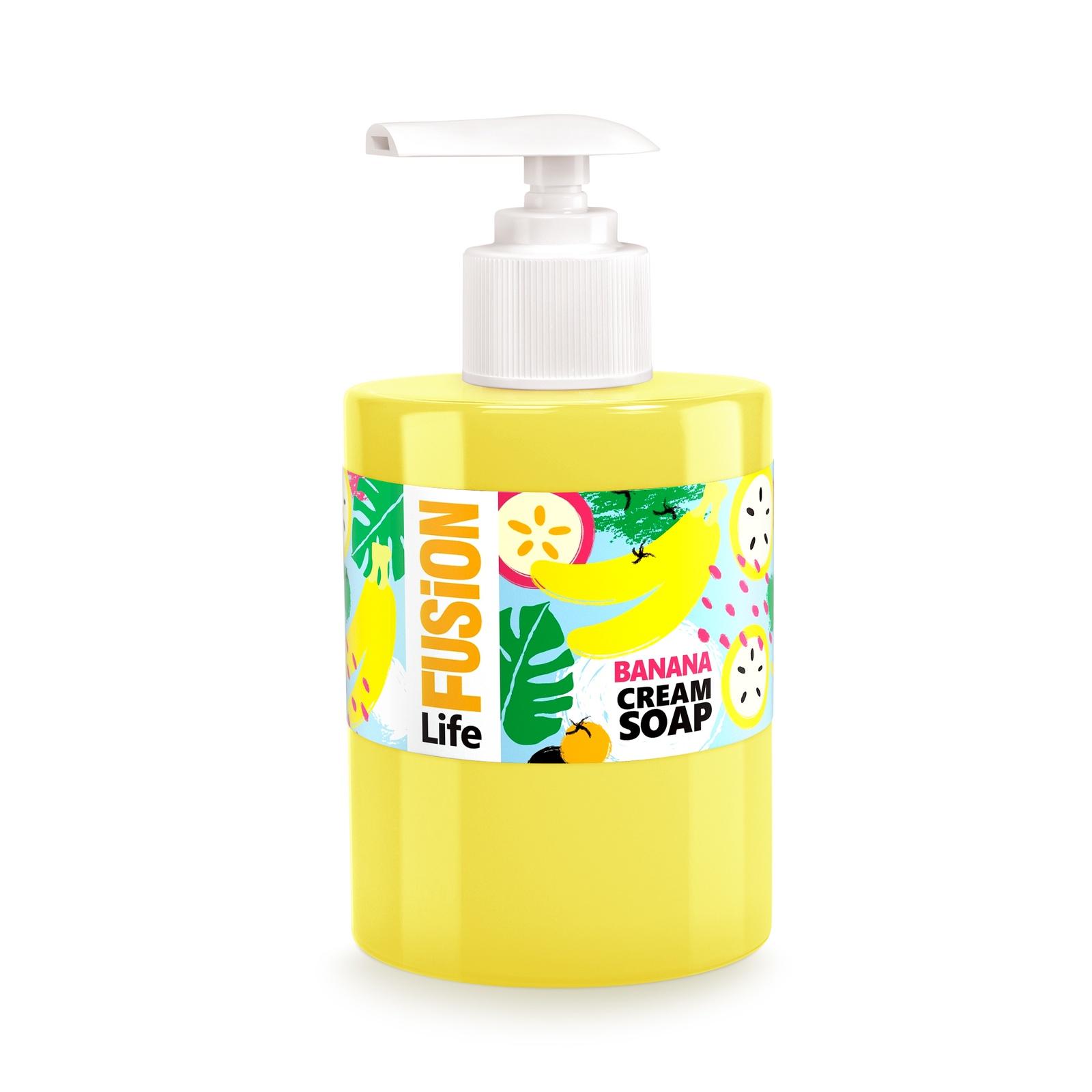 """Жидкое крем-мыло для рук FUSION LIFE """"Тропический банан"""", 300 мл"""