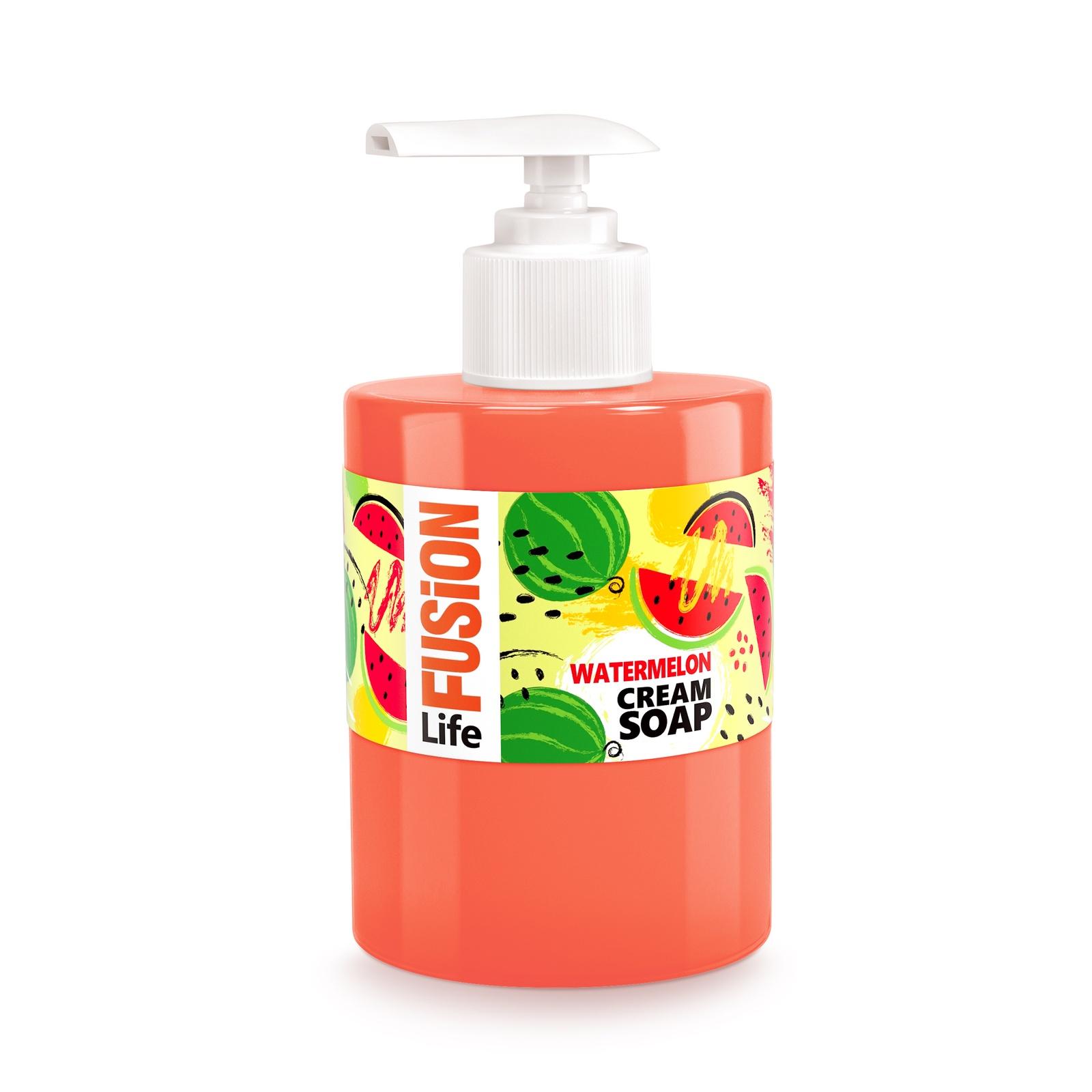 Фото - Жидкое крем-мыло для рук FUSION LIFE Сочный арбуз, 300 мл sanata жидкое крем мыло modamo лесная черника 300 мл