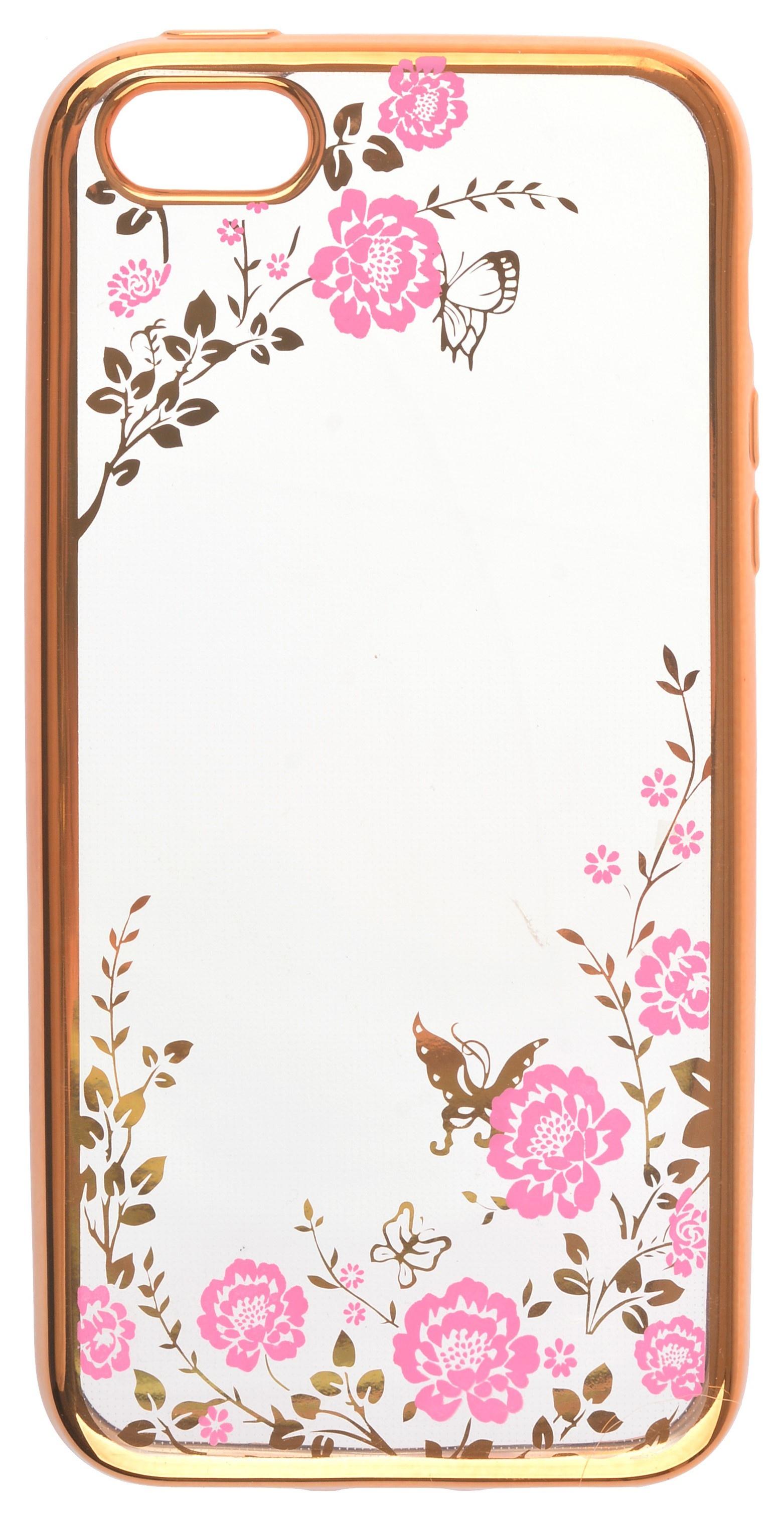 Накладка skinBOX для Apple Iphone 5/5S, 2000000111940, розовый
