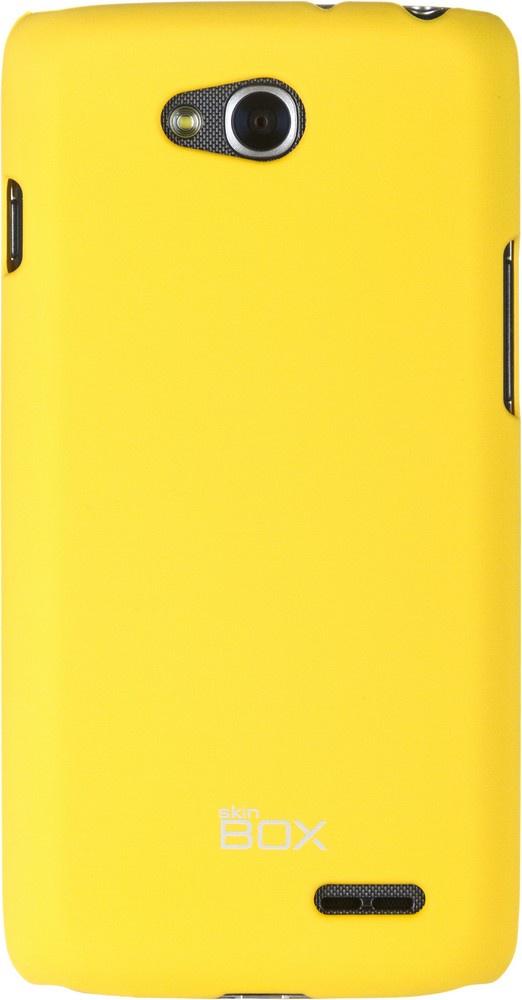 Накладка skinBOX для LG L90, 2000000063553, желтый накладка skinbox для lg g4s 2000000079226 черный