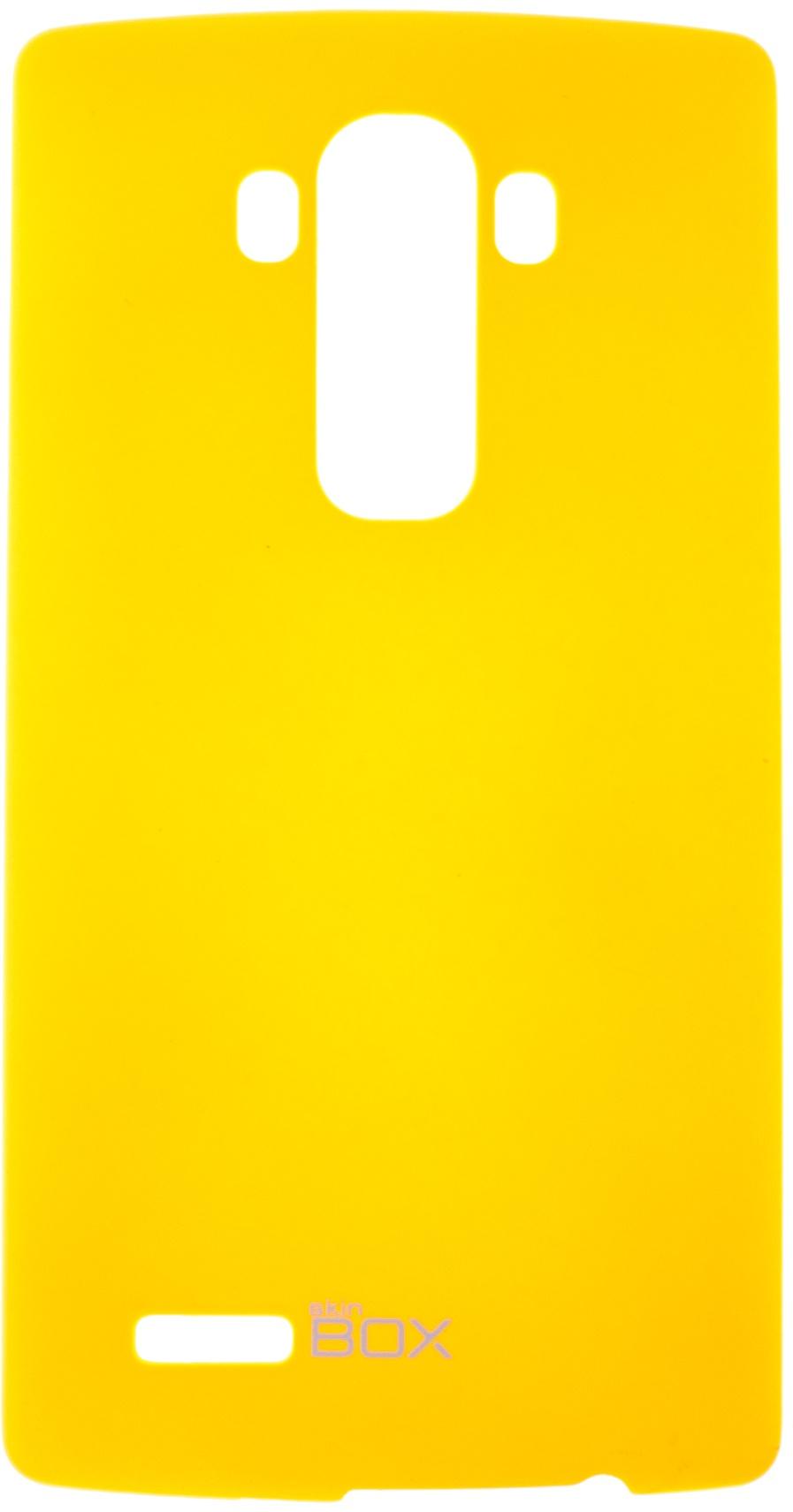Накладка skinBOX для LG G4, 2000000076409, желтый кейс для назначение lg l90 lg g2 lg g3 lg l70 lg k8 lg lg k5 lg k4 lg nexus 5x lg k10 lg k7 lg g5 lg g4 бумажник для карт кошелек защита