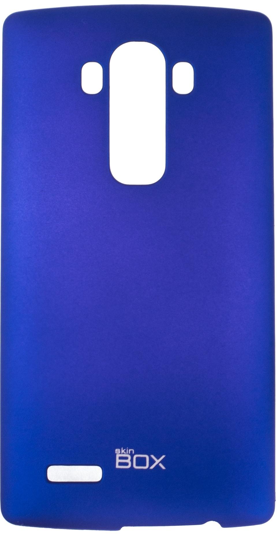 Накладка skinBOX для LG G4, 2000000076423, синий аккумулятор для телефона ibatt bl 53yh для lg d855 g3 d690 d690 g3 stylus d851 g3 d850 g3 d856 lg g3 dual lte vs985 g3 ls990 g3 d690n f400 g3 aka