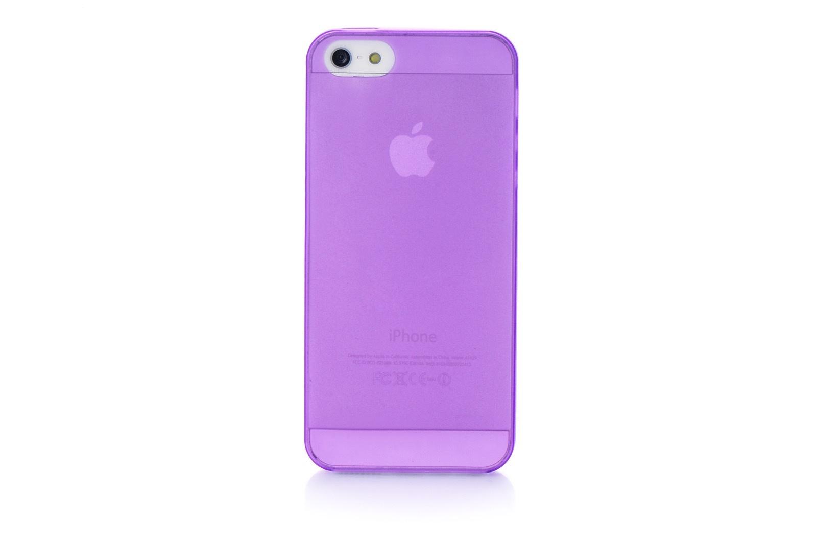 цены Чехол для сотового телефона Gurdini Чехол накладка Gurdini iPhone 5/5S/SE пластик ультратонкий 0.2, 400253, фиолетовый