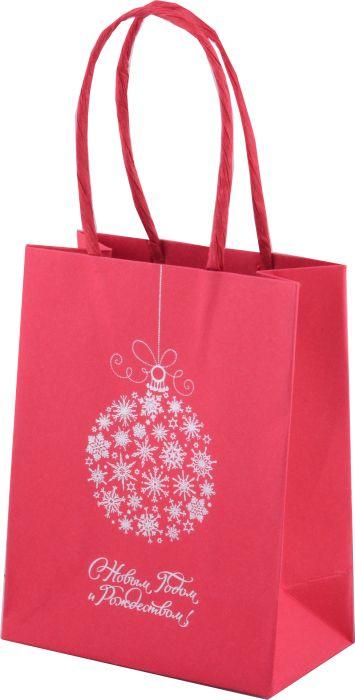 Фото - Пакет подарочный Феникс+ Серебряный шар, 45556/12, красный, 11 х 6 х 14 см пакет подарочный феникс полосы 40125 12 бежевый 40 х 14 х 30 см