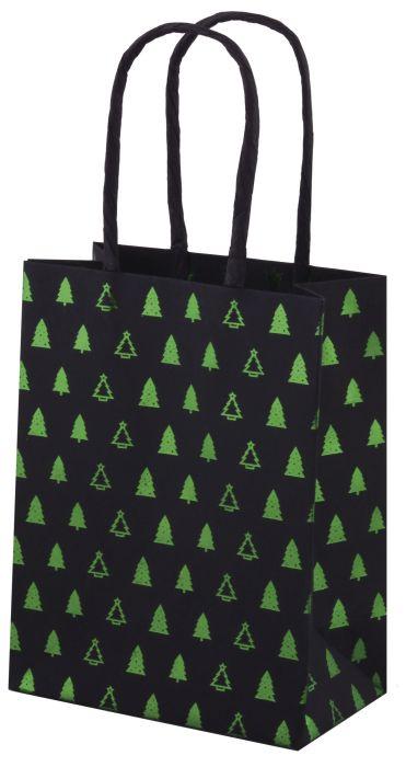 Фото - Пакет подарочный Феникс+ Зеленые елочки, 45558/12, черный, зеленый, 11 х 6 х 14 см пакет подарочный феникс полосы 40125 12 бежевый 40 х 14 х 30 см
