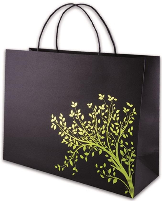 Фото - Пакет подарочный Феникс+ Дерево, 40126/12, черный, салатовый, 40 х 14 х 30 см пакет подарочный феникс полосы 40125 12 бежевый 40 х 14 х 30 см