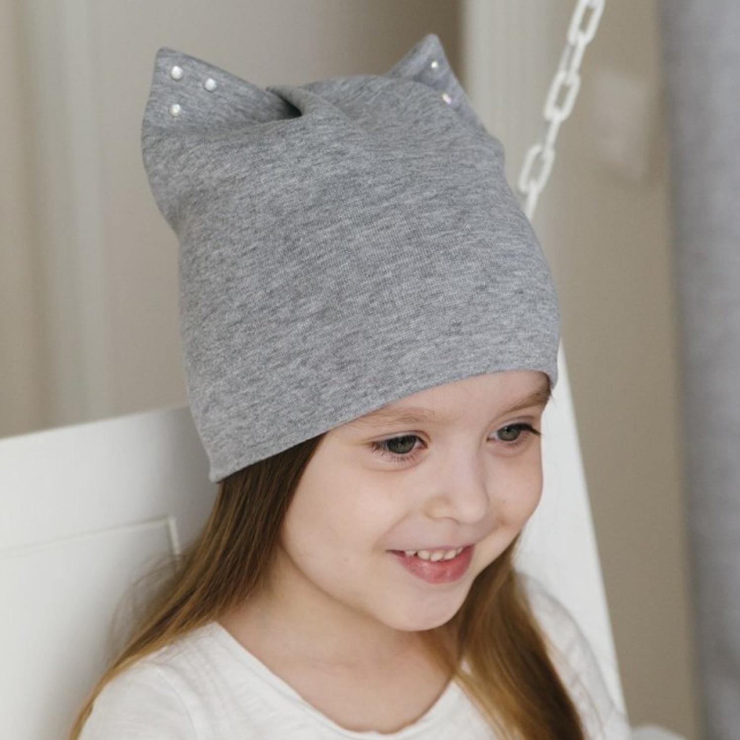Шапка HOHLOON шапка front side jersey серый меланж