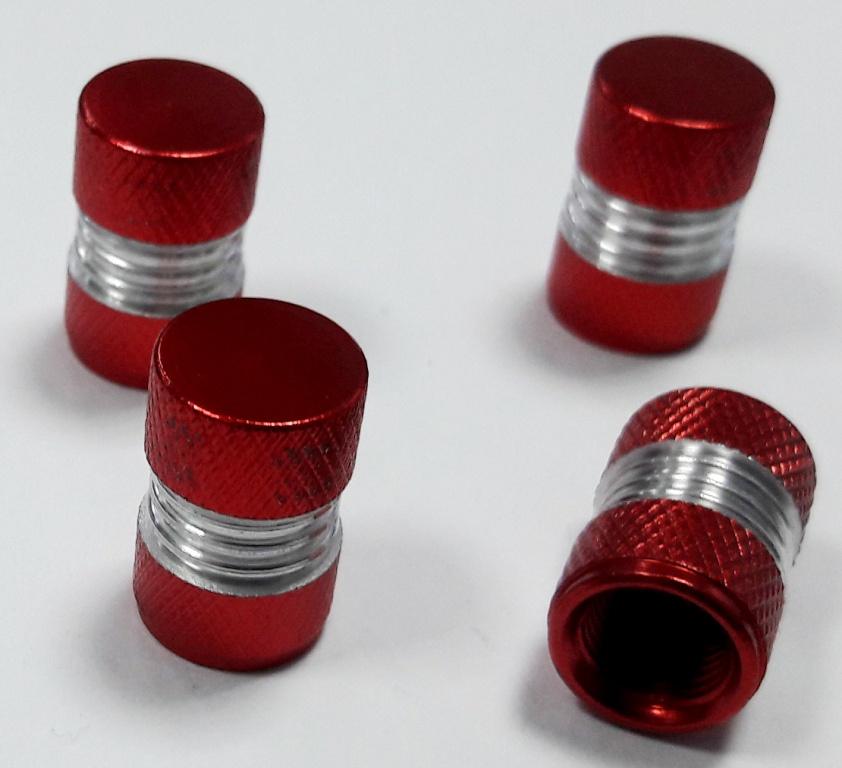 Колпачки ниппеля Mashinokom Ромбы, KNV 008-3, красный колпачки mashinokom knv 009 2 черный