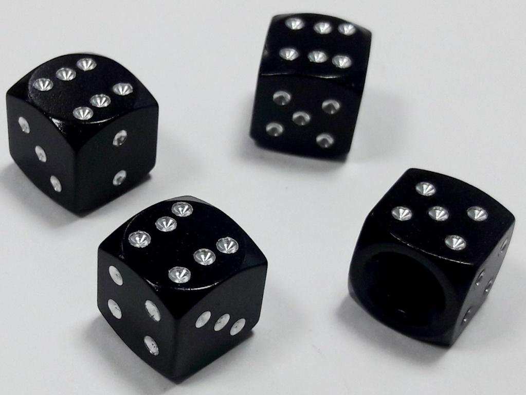 Колпачки ниппеля Mashinokom Куб, KNV 014-2, черный