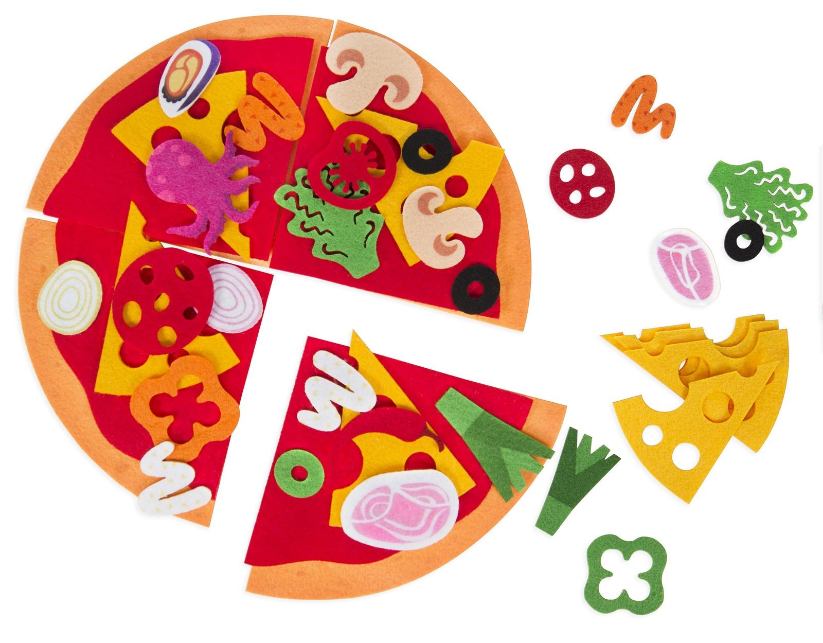 Мягкий конструктор Feltrica Конструктор из фетра Пицца анданте развивающий игровой набор пицца