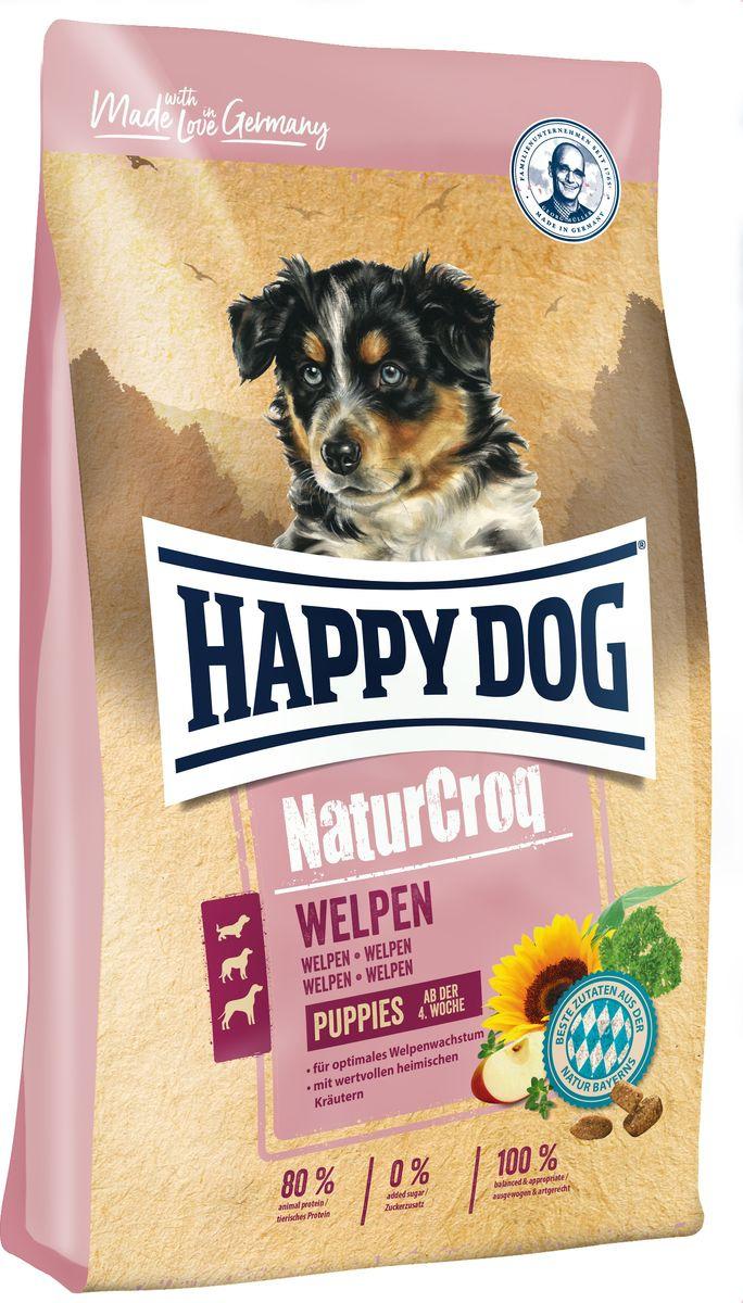 Корм сухой Happy Dog Natur Croq Welpen, для щенков, с 4 недель, 4 кг happy dog сухой корм happy dog premium naturcroq lamm