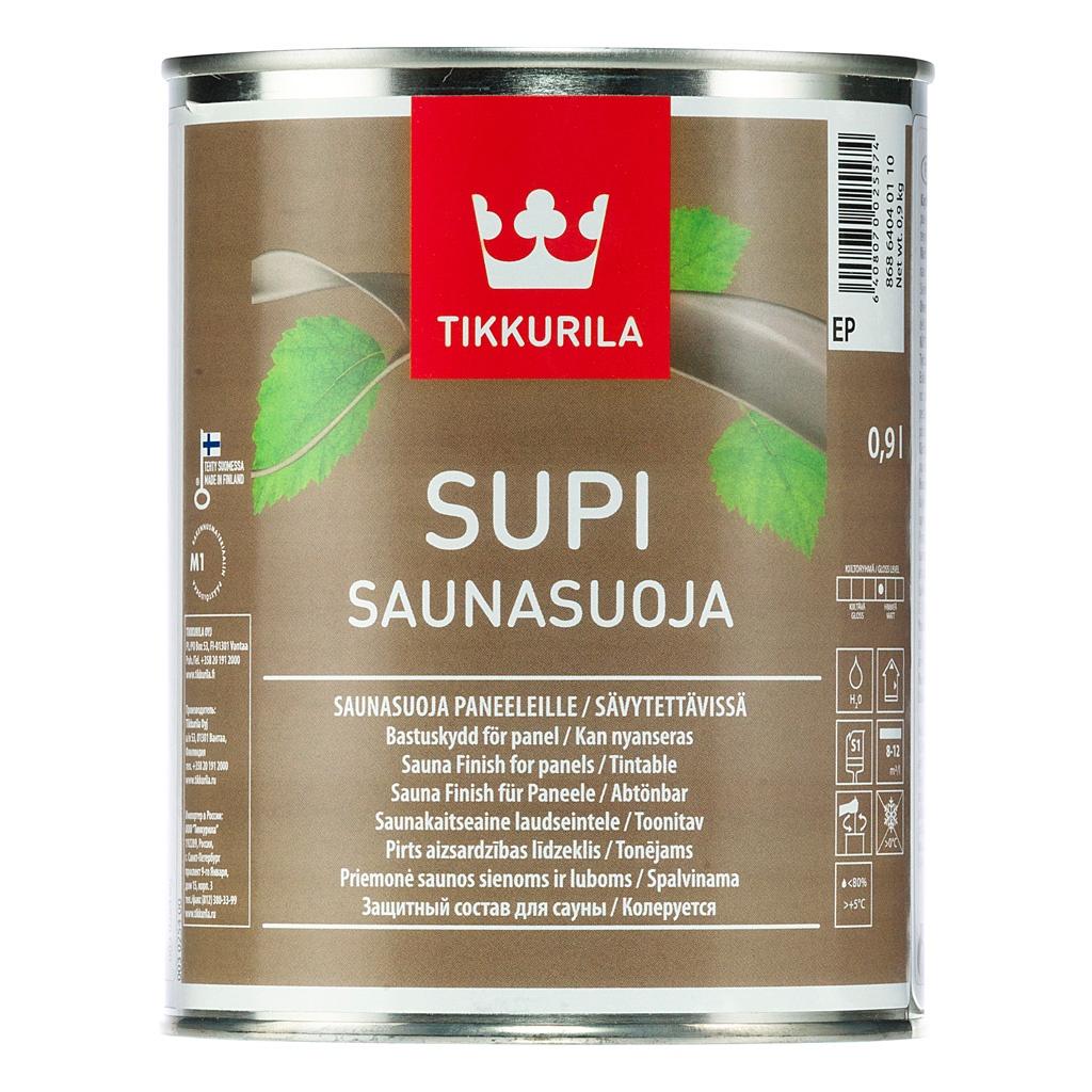 цены Пропитка Tikkurila SUPI SAUNASUOJA EP защит. состав 0.9 л, 700002736