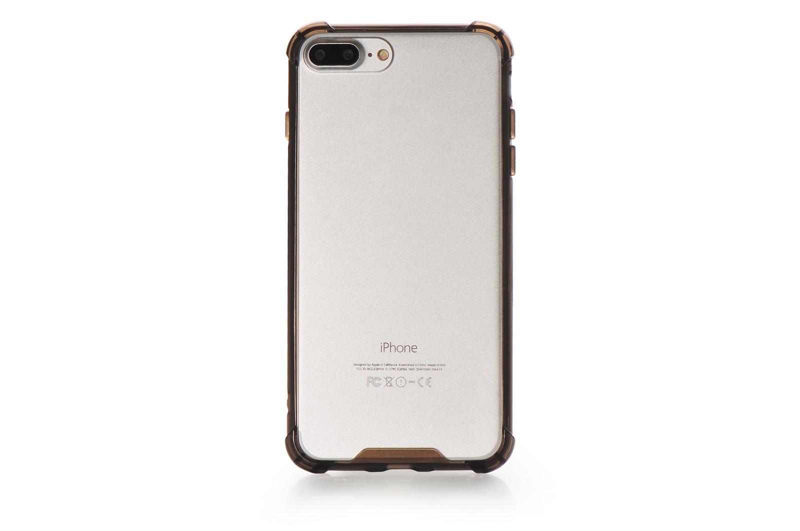 Чехол для сотового телефона Gurdini Чехол накладка Gurdini iPhone 7/8 Plus Lims 3 противоударный, 900595, прозрачный