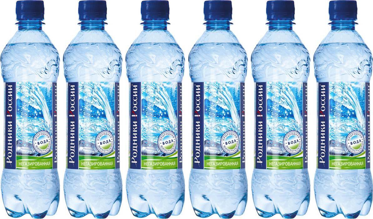 Родники России вода минеральная природная столовая негазированная, 6 штук по 1,5 л