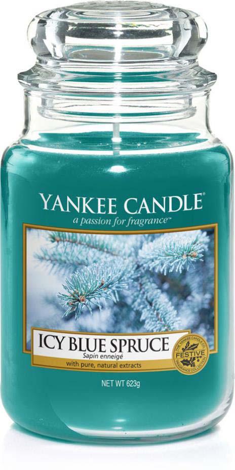Свеча ароматизированная Yankee Candle Заснеженная ель, в стеклянной банке, 1595577E, 623 г ароматическая свеча yankee candle summer peach jar candle объем 623 г 623 мл