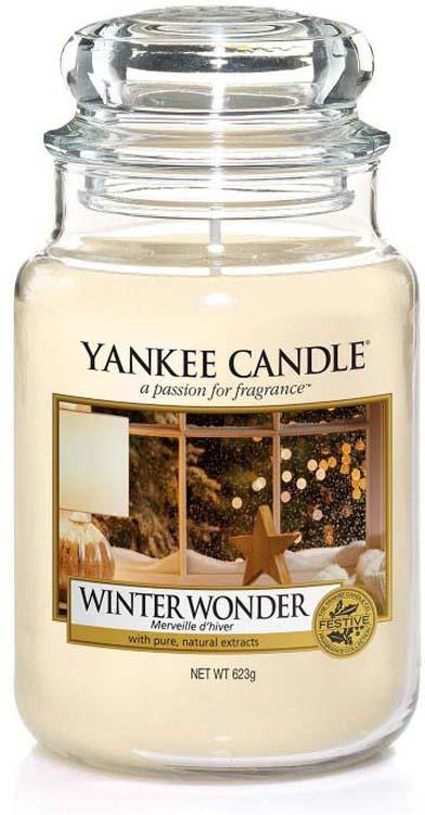 Свеча ароматизированная Yankee Candle Новогоднее чудо, в стеклянной банке, 1595599E, 623 г ароматическая свеча yankee candle summer peach jar candle объем 623 г 623 мл